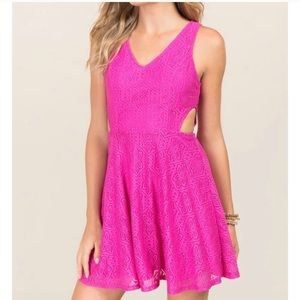 Pink lace dress with cut outs 🎀